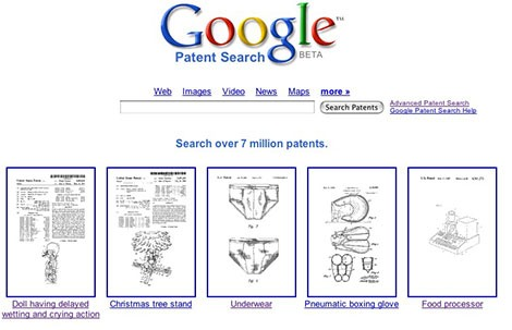 Googlen patenttihaku